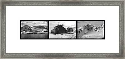 Arctic Triptych Framed Print by Terence Davis