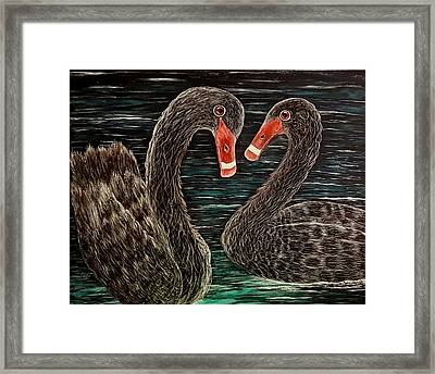 Ardent Hearts  Framed Print by Connie Kottwitz