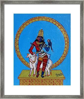 Ardhanarishwara Framed Print by Pratyasha Nithin
