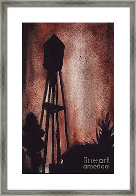 Ardmore Watertower Framed Print by Ron Erickson