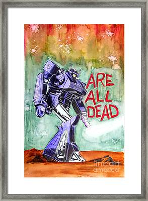 Are All Dead Framed Print by Justin Moore