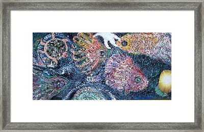 Are The Blues Running Framed Print by Anne-Elizabeth Whiteway