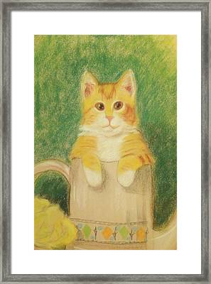 Framed Print featuring the drawing Are You Sure It's Ok To Be In Here? by Denise Fulmer