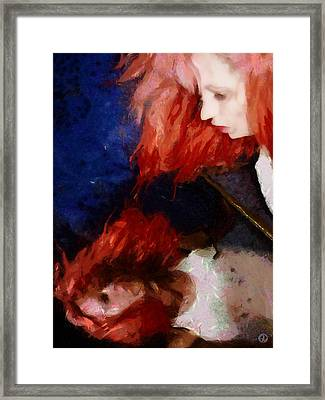 Framed Print featuring the digital art Are You There My Mirror Twin by Gun Legler
