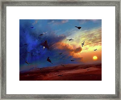 Framed Print featuring the painting Area 51 Groom Lake by Dave Luebbert
