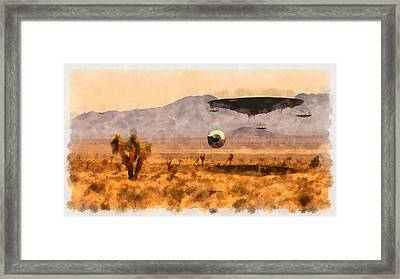Area 51 Secrets Framed Print by Esoterica Art Agency