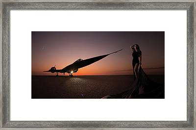 Area 71 Dark Seduction Framed Print