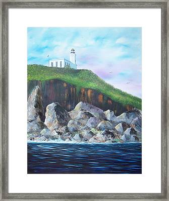 Arecibo Lighthouse Framed Print by Tony Rodriguez