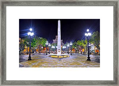 Arecibo Plaza Framed Print