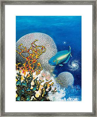 Areiti -the Little Wave Framed Print by Lee Pantas