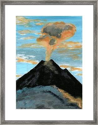 Arenal Volcan I Framed Print by Susan Macdonald