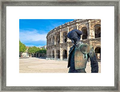 Arenes De Nimes Bullfighter Framed Print by Scott Carruthers