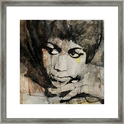 Aretha Franklin - Don't Play That Song For Me  Framed Print