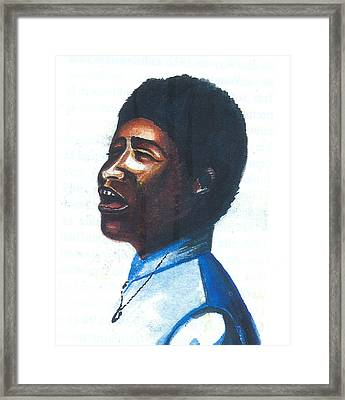 Framed Print featuring the painting Aretha Franklin by Emmanuel Baliyanga