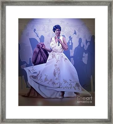 Aretha Franklin Rock Steady Framed Print