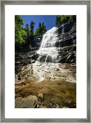Framed Print featuring the photograph Arethusa Falls by Robert Clifford