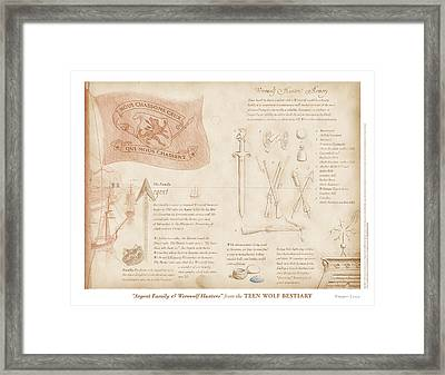 Argent Family And Werewolf Hunters Framed Print by Swann Smith