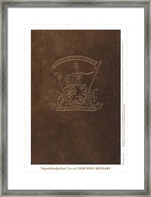 Argent Family Crest Framed Print