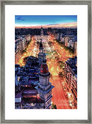 Argentina National Congress Framed Print by Bernardo Galmarini