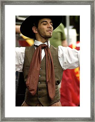 Argentine Street Performer Framed Print