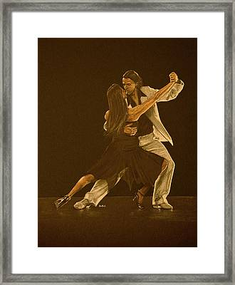 Argentine Tango Dancers Framed Print by Martin Howard