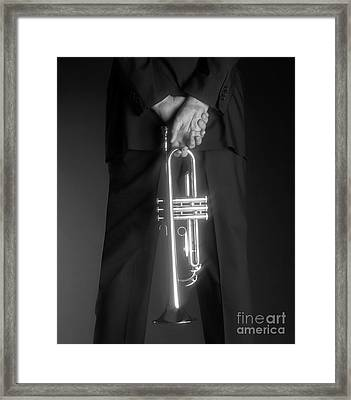 Ari And Trumpet Framed Print