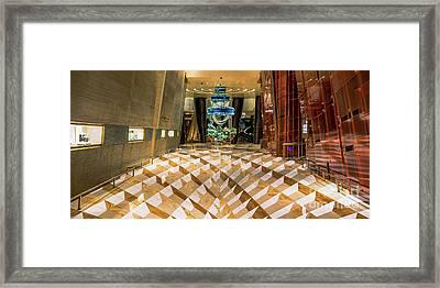 Aria High Limit Lounge Entrance Framed Print