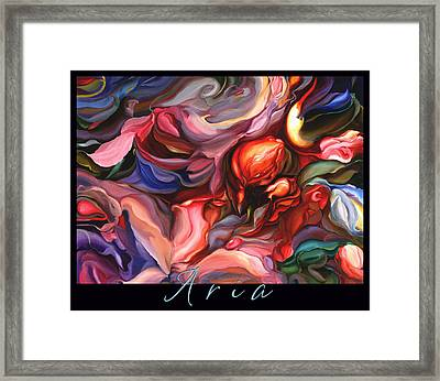 Aria - Original Acrylic Painting With Added Border-title Framed Print