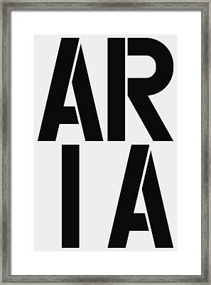Aria Framed Print by Three Dots