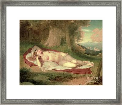 Ariadne Asleep On The Island Of Naxos Framed Print by John Vanderlyn