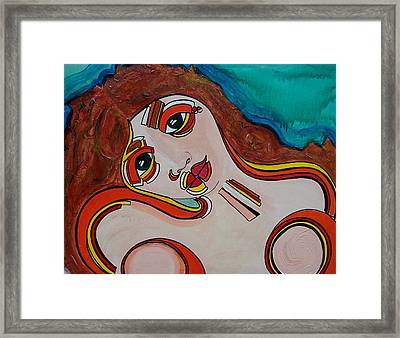 Arial Framed Print by Valerie Wolf