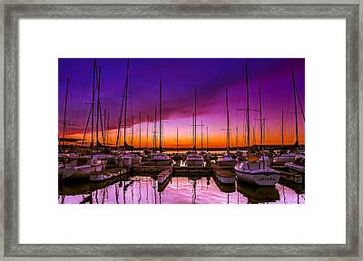 Ariana's Sunset Framed Print