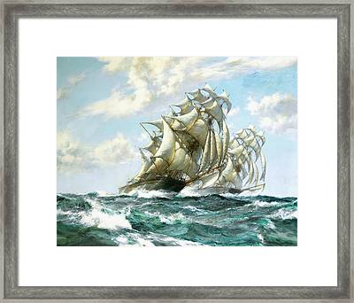 Ariel And Taeping Framed Print by Montague Dawson