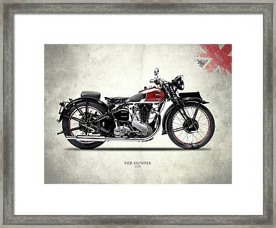 Ariel Red Hunter 1935 Framed Print by Mark Rogan