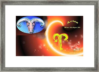 Framed Print featuring the painting Aries by The Art of Alice Terrill