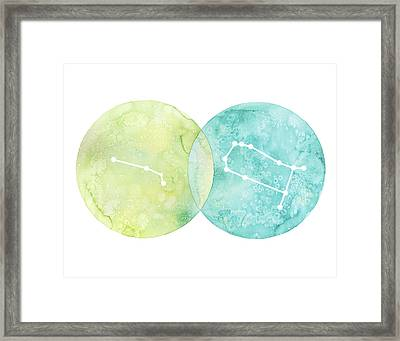 Aries And Gemini Framed Print by Stephie Jones