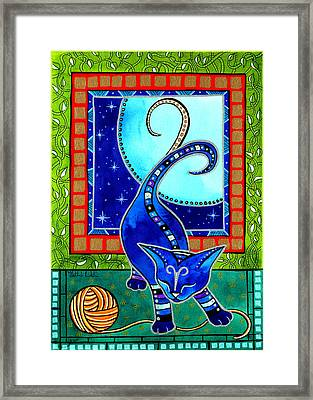 Aries Cat Zodiac Framed Print