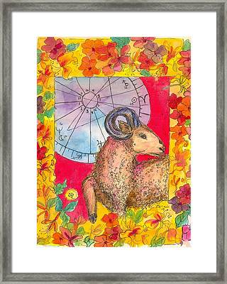 Framed Print featuring the painting Aries by Cathie Richardson