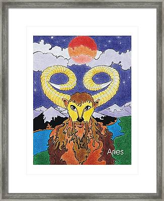 Aries The Ram Framed Print by Stephen Daniel
