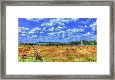Arificial Rain Jack Curtis Farm Art Framed Print