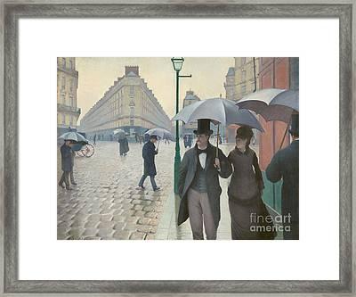 aris Street Rainy Day Framed Print