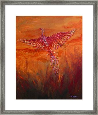 Arising From The Depths Framed Print by Judy M Watts-Rohanna