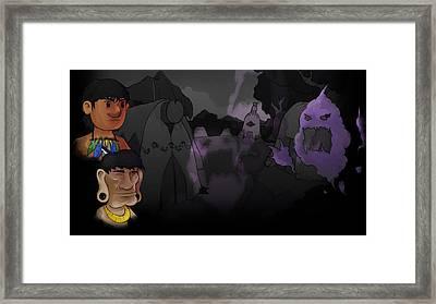 Aritana And The Harpy's Feather Framed Print
