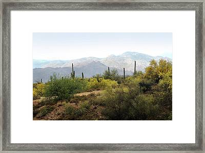 Framed Print featuring the photograph Arizona Back Country by Gordon Beck