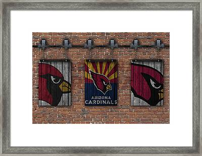 Arizona Cardinals Brick Wall Framed Print by Joe Hamilton