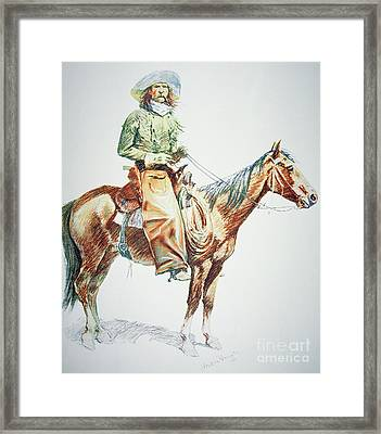 Arizona Cowboy, 1901 Framed Print by Frederic Remington
