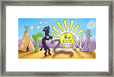 Arizona Framed Print by Cristophers Dream Artistry