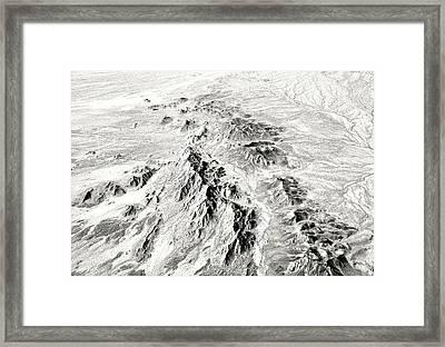 Arizona Desert In Black And White Framed Print
