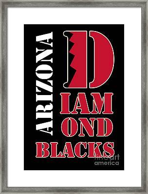 Arizona Diamondbacks Baseball Typography Framed Print by Pablo Franchi