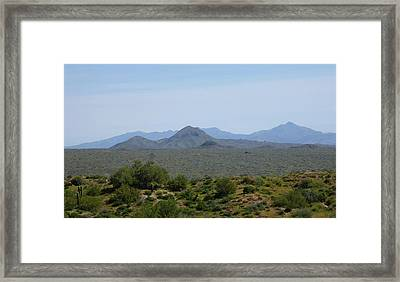 Framed Print featuring the photograph Arizona Horizons by Gordon Beck